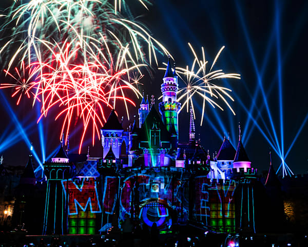 Mickey S Mix Magic With Fireworks Mickey Photography Art | William Drew Photography