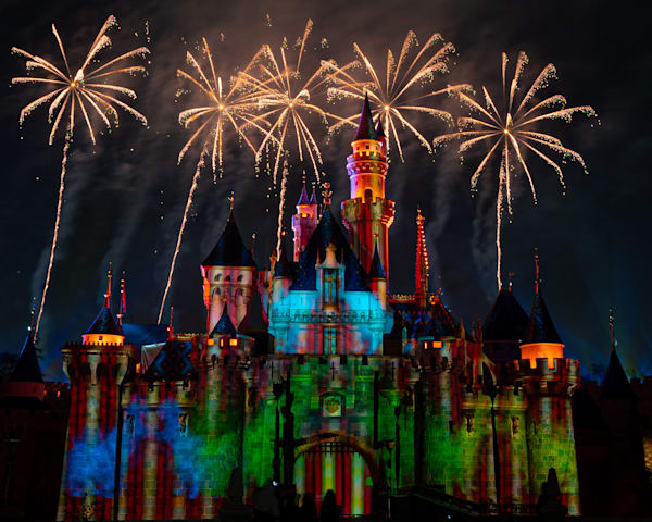 Mickey S Mix Magic With Fireworks Show Photography Art | William Drew Photography