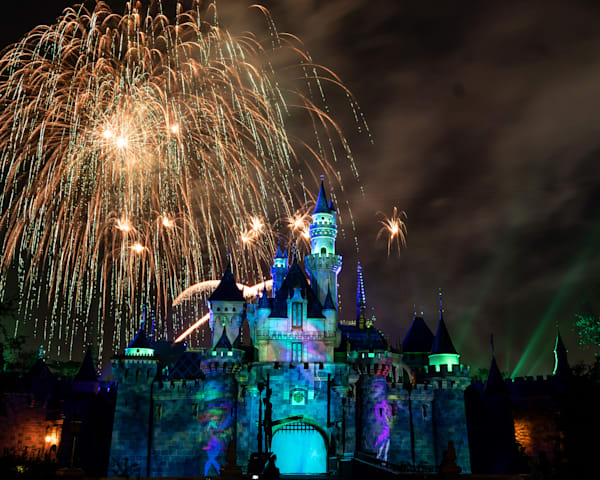 Mickey S Mix Magic With Fireworks Pastels Photography Art | William Drew Photography