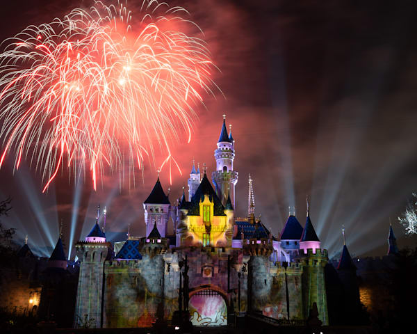 Mickey S Mix Magic With Fireworks Sunshine Photography Art | William Drew Photography