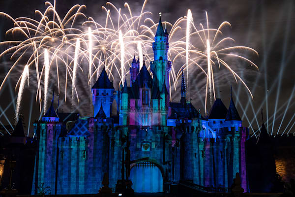 Frozen Part Of Mickey's Mix Magic Fireworks Photography Art | William Drew Photography