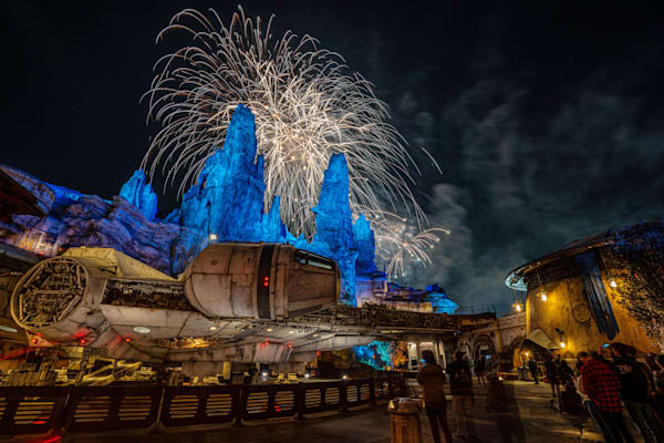 Fireworks and the Millennium Falcon - Star Wars Disneyland Photos