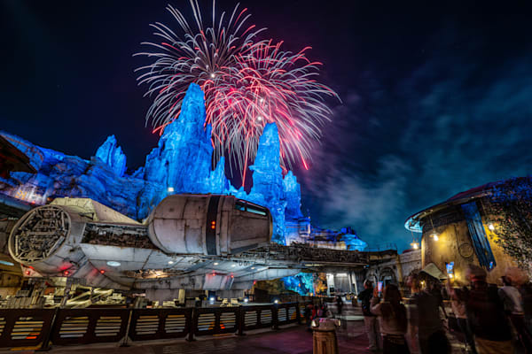 Fireworks Above The Millennium Falcon Photography Art | William Drew Photography