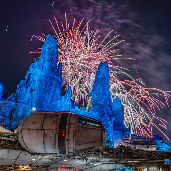 Millennium Falcon Smugglers Run Fireworks - Disneyland Star Wars Pictures