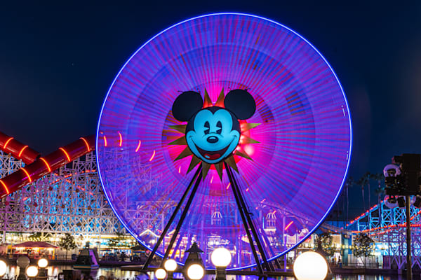 Mickey Mouse Ferris Wheel Photography Art | William Drew Photography