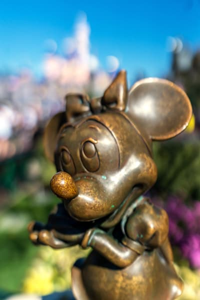 Minnie Mouse Statue At Disneyland Photography Art | William Drew Photography