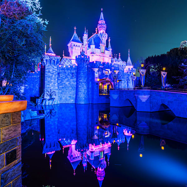 Nighttime Sleeping Beauty Castle Photography Art | William Drew Photography