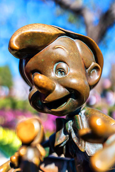 Pinocchio Statue At Disneyland Photography Art | William Drew Photography