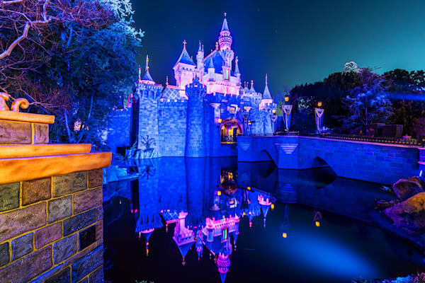 Sleeping Beauty Castle At Night Photography Art | William Drew Photography