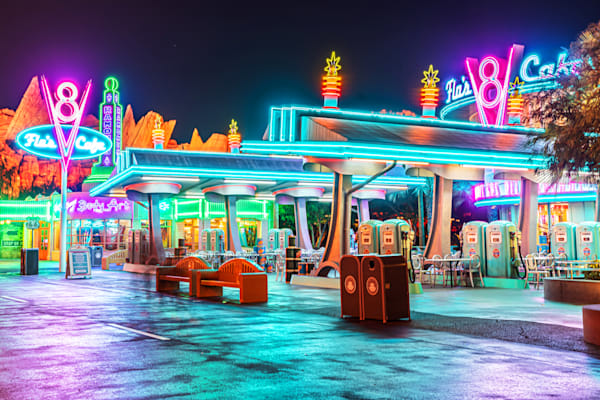 Cars Land Neon Lights Photography Art | William Drew Photography