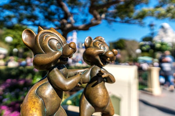 Chip N Dale Statues At Disneyland Photography Art | William Drew Photography