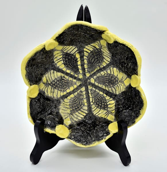 B Hirsh   Black And Yellow Bowl by Mary Phillip - Branson West Gallery