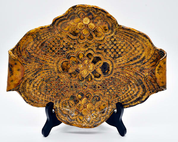 B Hirsh   Curl Handled Tray | Branson West Art Gallery - Mary Phillip