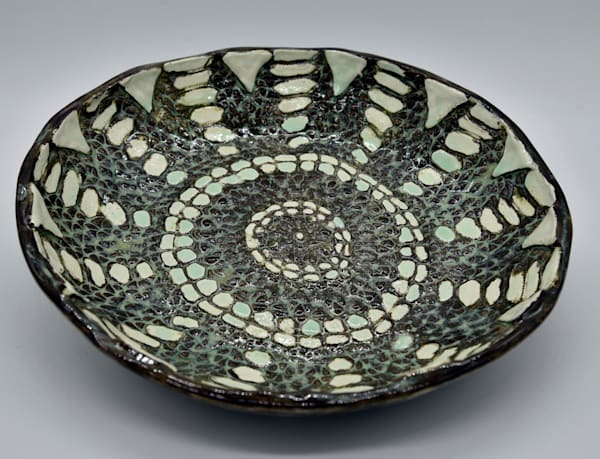 BHirsh - Green and Brown Bowl - SOLD