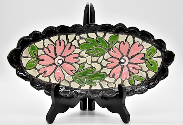 B Hirsh   Pink Daisy Dish | Branson West Art Gallery - Mary Phillip