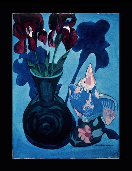 Irises & Cockatiel Art | JackieRobbinsStudio