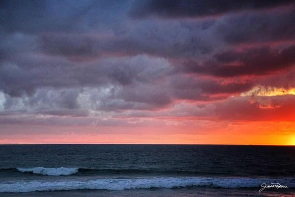 Zuma Sunset Painting  Art | JackieRobbinsStudio