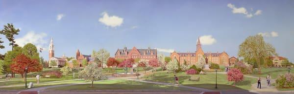 University Of Vermont Green At Spring Bloom  Art | The Huntington Studio