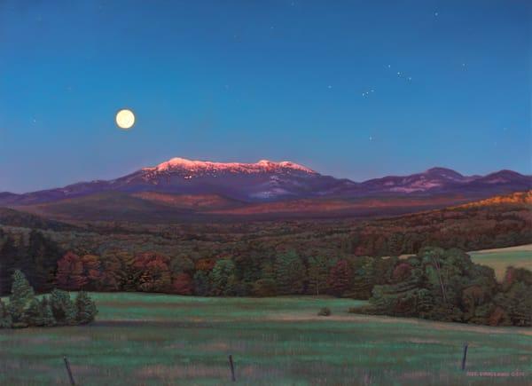 Moon & Orion Over Mansfield  Art | The Huntington Studio