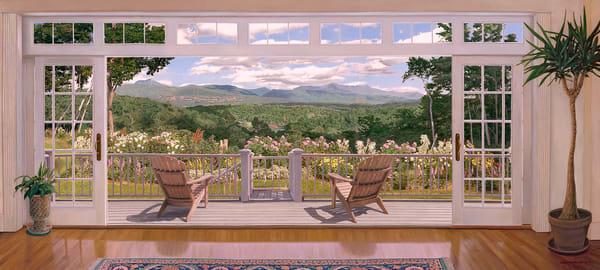 Green Mountain View Art | The Huntington Studio