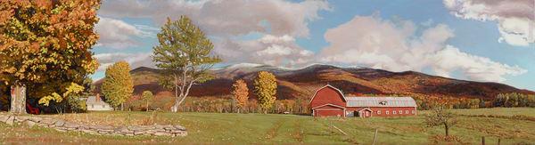 Red Barn Stowe  Art | The Huntington Studio