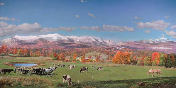 Sugarbush & Waitsfield Round Barn In Autumn Art | The Huntington Studio