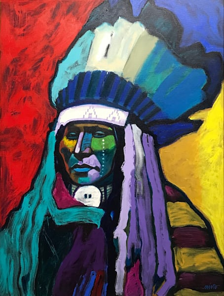 Chief Rain in the Face | John Nieto Original Painting