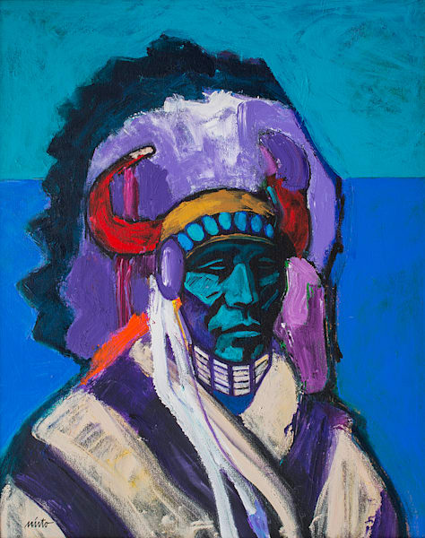 Plains Apache | John Nieto Original Painting