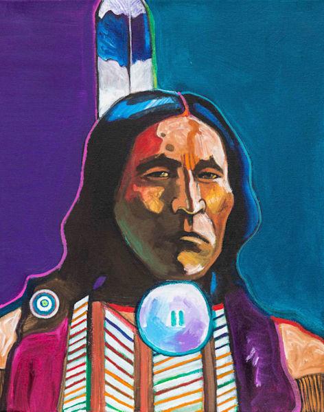 Spotted Wolf   John Nieto Original Painting