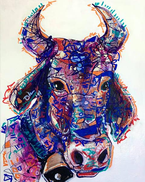 Clara The Cow 14x18 Art | Kristyn Watterworth
