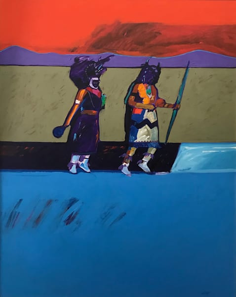 Southwest Buffalo Dancers | John Nieto Original Painting