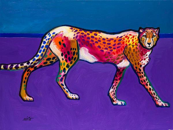 Cheetah Stride   John Nieto Original Painting