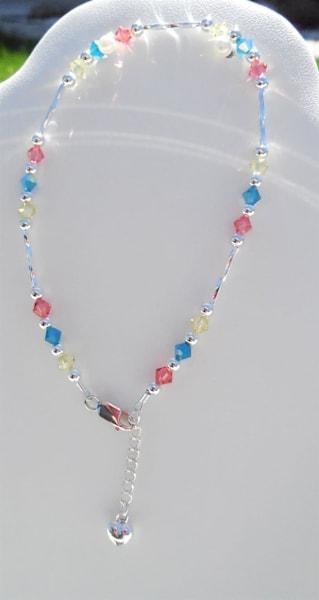 K Thierstein   Swarovski Crystal Anklet Rose,Jonquil,Turquoise | Branson West Art Gallery - Mary Phillip