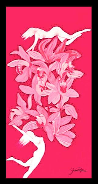 Nudes With Orchids  Art   JackieRobbinsStudio