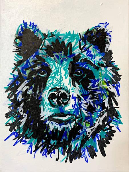 Barry The Bear Art by Kristyn Watterworth