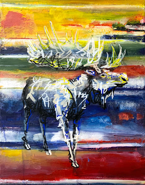 Michael The Moose Art by Kristyn Watterworth