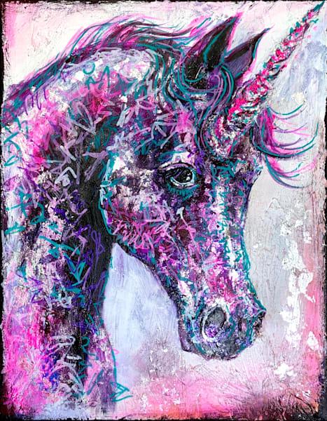 Una The Unicorn Art by Kristyn Watterworth