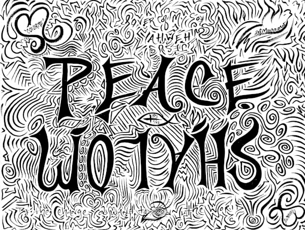 Peace Shalom  Art | COLORME Art Spa