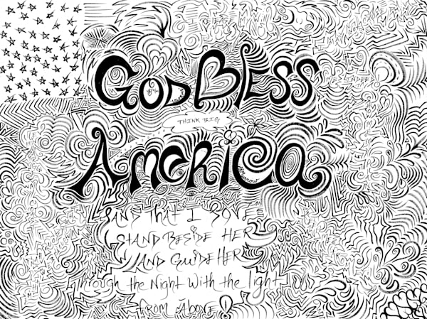 God Bless America Art | COLORME Art Spa