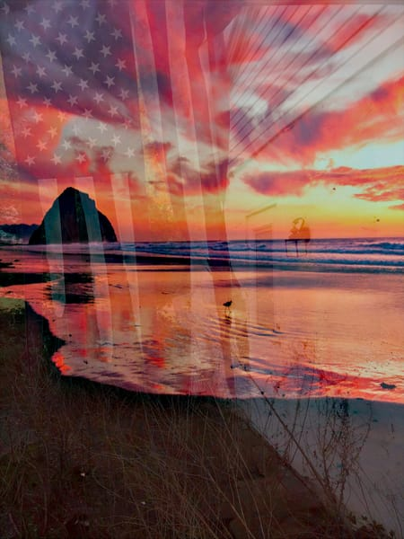 Stars and Stripes Sunset|Fine Art Photography by Artist Todd Breitling