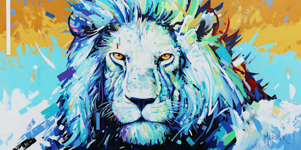 King Leo, Marnier, painting, art, acrylic