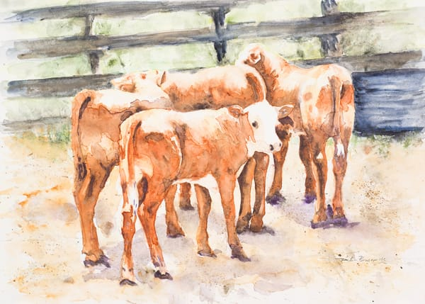In The Sorting Pen  Art by debrabrunerstudio