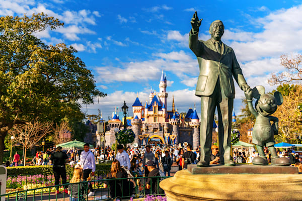 Disneyland Partners Statue Photography Art | William Drew Photography