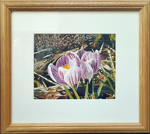 New England Crocus Garden Original Fine Art