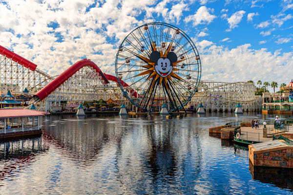 The Mickey Funwheel At California Adventure Photography Art | William Drew Photography
