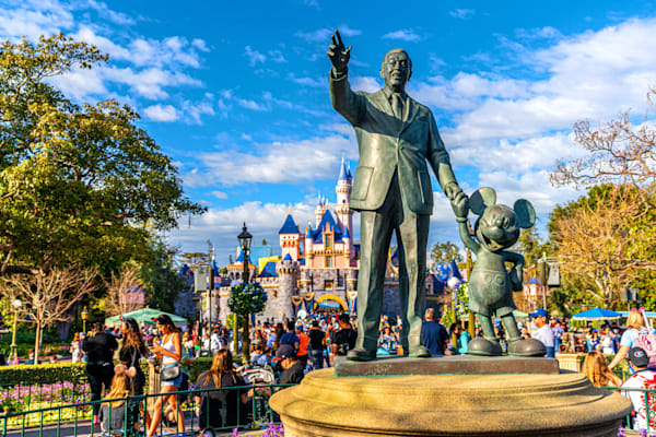 Walt And Mickey Partners At Disneyland Photography Art | William Drew Photography