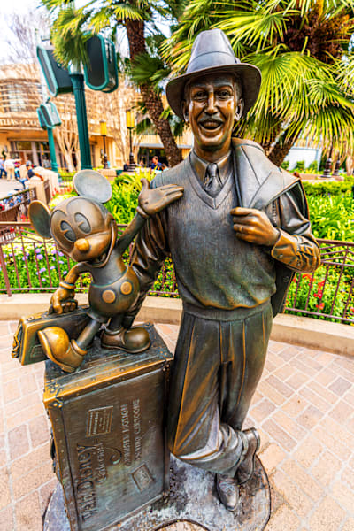 Walt And Mickey Storytellers Statue Photography Art | William Drew Photography