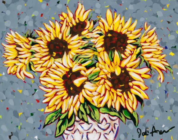 Wild sunflower fine art print by Jodi Augustine.