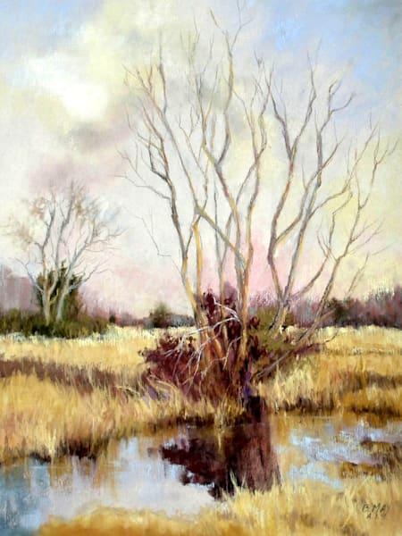 Autumn On The Marsh, Pastel Painting