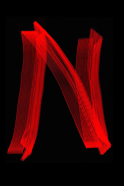 Letter N Light Painting Photography Art | David Louis Klein